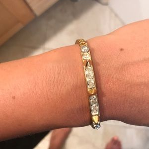 Henri Bendel spiked and bling bracelet